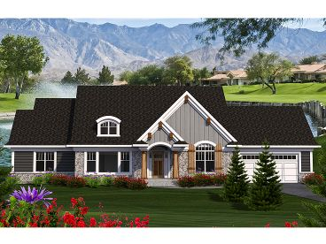 Ranch Home Design, 020H-0377