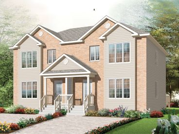 Duplex House Plan, 027M-0028
