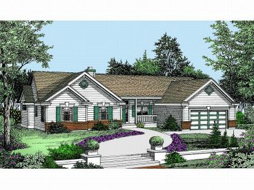 Ranch Home Plan, 026H-0055