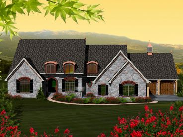 European House Plan, 020H-0339