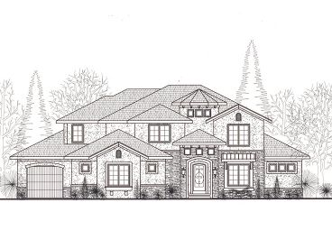 Two-Story Home Plan, 050H-0013