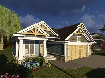 Craftsman House Plan, 020H-0393