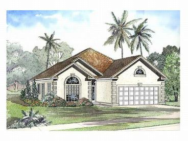 Florida Style House Plan, 025H-0116