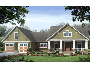 Craftsman Home Plan, 001H-0227