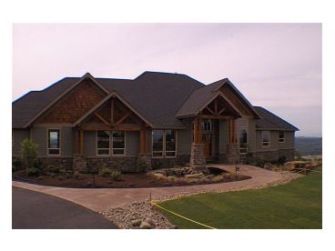 Front PhotoStucco Home Plan Photo, 034H-0079