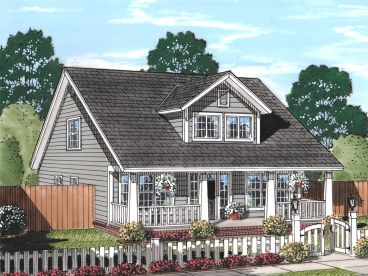 Narrow Lot Home Plan, 059H-0184