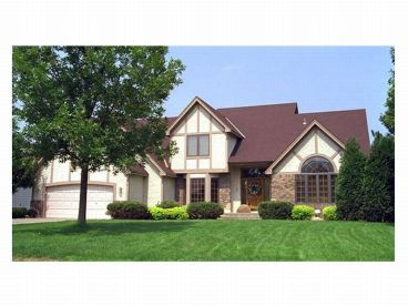 Tudor Home Plan Photo, 023H-0022