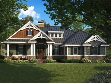 Craftsman House Plan, 037H-0256