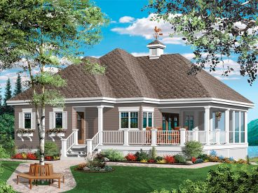 Waterfront Home Plan, 027H-0396