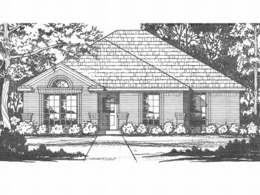 Narrow Lot House Plan, 015H-0006