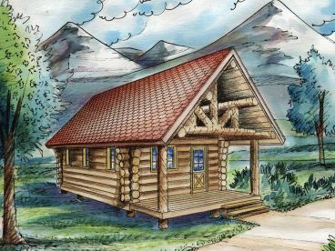 Log Cabin Plan, 012L-0072