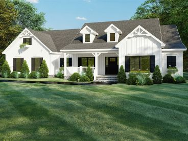 Country Ranch House Plan, 074H-0123