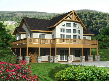 Mountain House Plan, 012H-0201