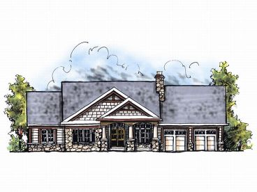 Craftsman House Plan, 020H-0031