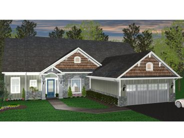 Craftsman House Plan, 049H-0010