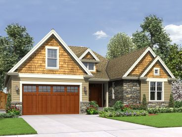 Ranch House Plan, 034H-0271