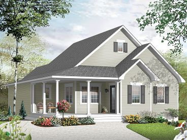 Narrow Lot House Plan, 027H-0311