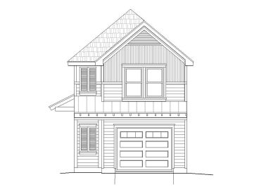 Narrow Lot Home Plan, 062H-0034