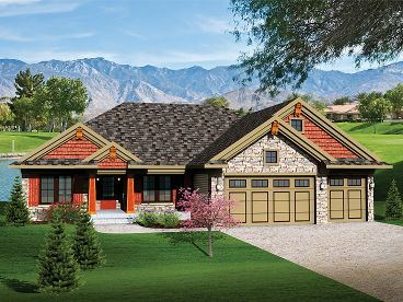 Craftsman House Plan, 020H-0252
