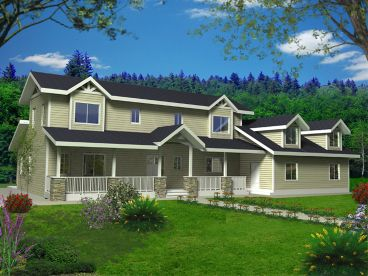 Country House Plan, 012H-0196
