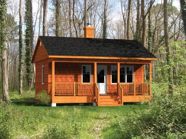 Vacation Cabin Plan, 072H-0180