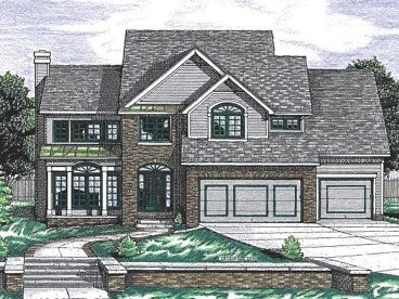 Two-Story Home Design, 031H-0040