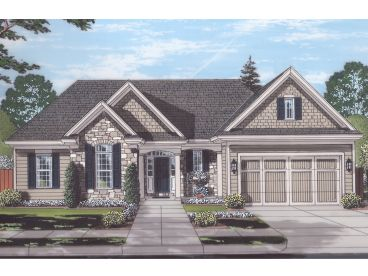 One-Story House Plan, 046H-0161