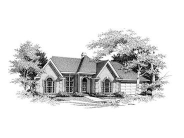 Ranch House Plan, 061H-0070
