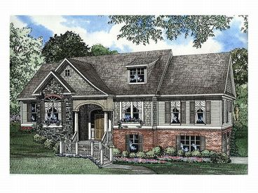 Hillside Home Plan, 025H-0092