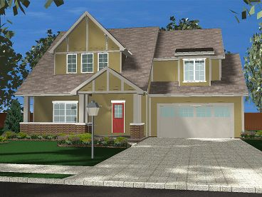 Two-Story House Plan, 050H-0094