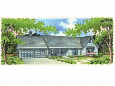 Ranch Home Plan, 021H-0083