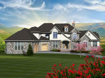 European House Plan, 020H-0324