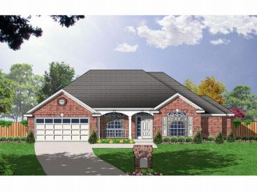 Traditional Home Plan, 015H-0073