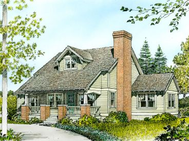 Bungalow House Plan, 008H-0001
