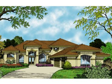 Mediterranean Home Plan, 043H-0165