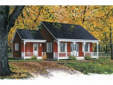 Cottage Home Plan, 027H-0123