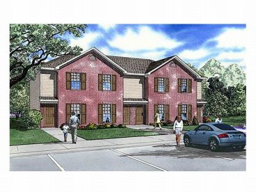 Townhouse Plan, 025M-0062