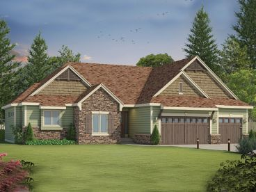 Craftsman House Plan, 031H-0259
