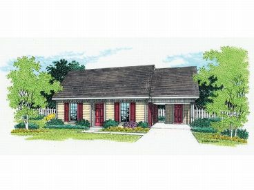 Narrow Lot House Plan, 021H-0018