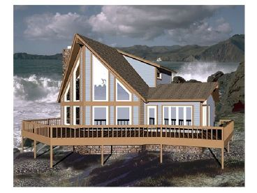 A-Frame House Plan, 006H-0044