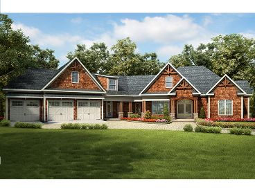 Craftsman House Plan,, 019H-0157