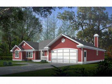 Ranch House Design, 026H-0027