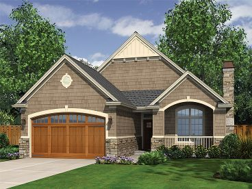 Craftsman House Plans   The House Plan Shop  Story Narrow Lot Home  H
