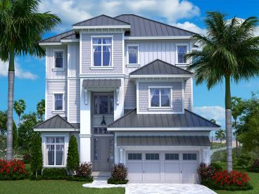 Three-Story Coastal House Plan, 037H-0241