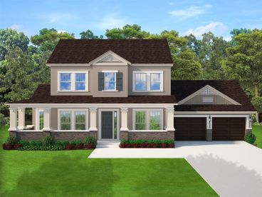 Country Craftsman House Plan, 064H-0123
