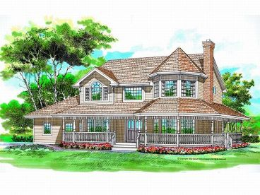 Country Victorian House, 032H-0047