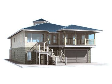 Beach House Plan, 052H-0012