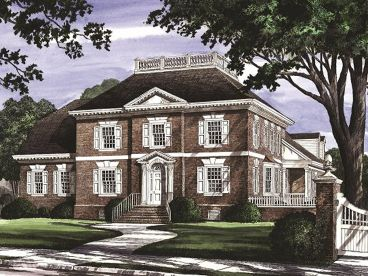 Colonial House Plan, 063H-0121