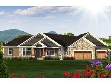 Ranch House Plan, 020H-0386