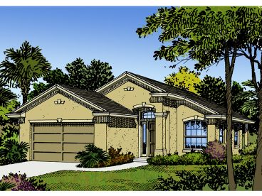 Sunbelt House Plan, 043H-0006